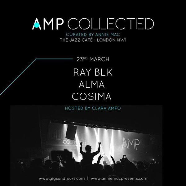 AMP Collected at Brixton Academy on Thursday 23rd March 2017 Flyer