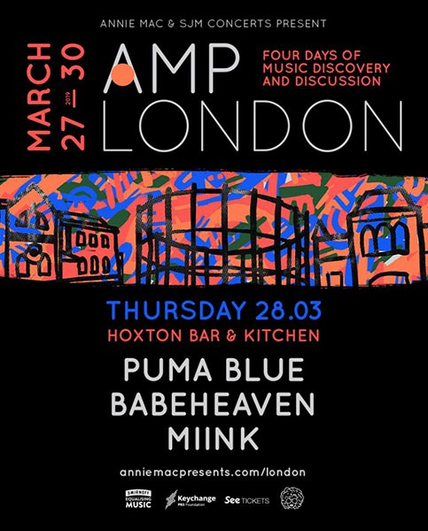 AMP London at Hoxton Square Bar & Kitchen on Thu 28th March 2019 Flyer