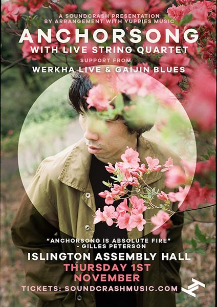 Anchorsong at Islington Assembly Hall on Thu 1st November 2018 Flyer