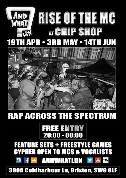 And What - Enter the Dojo at Chip Shop BXTN on Thu 14th June 2018 Flyer