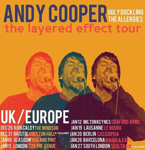 Andy Cooper at 229 The Venue on Thursday 11th January 2018 Flyer
