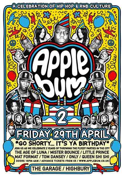 Applebum at KOKO on Friday 29th April 2016 Flyer