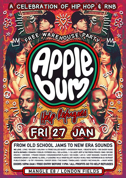 Applebum at Islington Assembly Hall on Friday 27th January 2017 Flyer