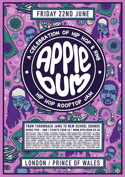 Applebum at Prince of Wales on Fri 22nd June 2018 Flyer