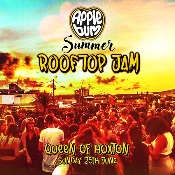 Applebum Summer Rooftop Jam at Queen of Hoxton on Sun 25th June 2017 Flyer