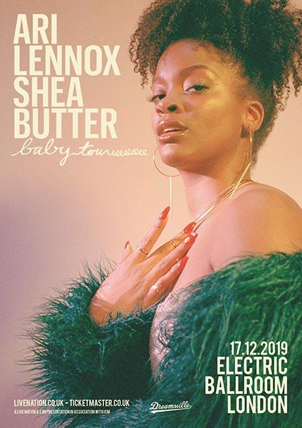 Ari Lennox at Electric Ballroom on Tue 17th December 2019 Flyer