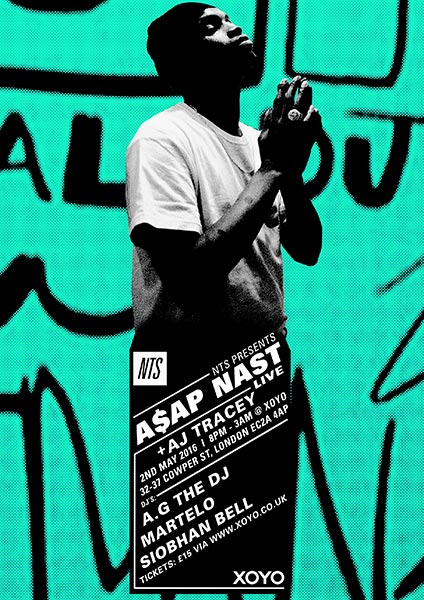 A$AP Nast at KOKO on Monday 2nd May 2016 Flyer