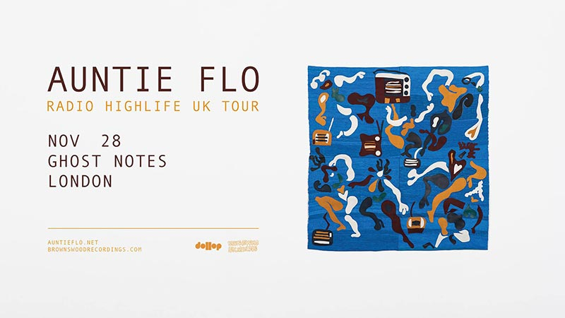 Auntie Flo at Ghost Notes on Wed 28th November 2018 Flyer