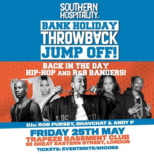 Bank Holiday Throwback Jump Off! at Trapeze on Friday 25th May 2018 Flyer