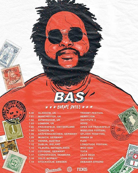 Bas at XOYO on Tuesday 3rd July 2018 Flyer