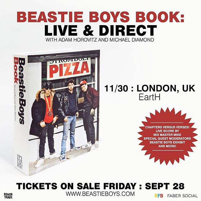 Beastie Boys Book: Live & Direct  at Hackney Arts Centre on Fri 30th November 2018 Flyer