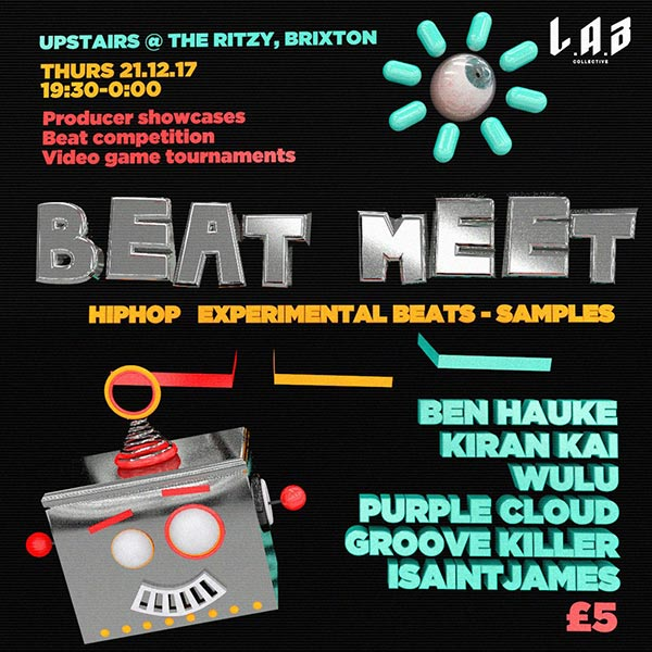 Beat Meet (L.A.B) at The Ritzy on Thursday 21st December 2017 Flyer