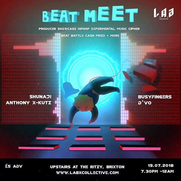Beat Meet at The Ritzy on Thu 19th July 2018 Flyer