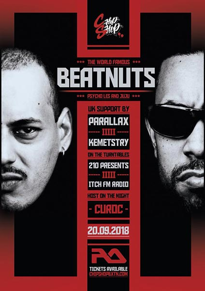The Beatnuts at Chip Shop BXTN on Thu 20th September 2018 Flyer