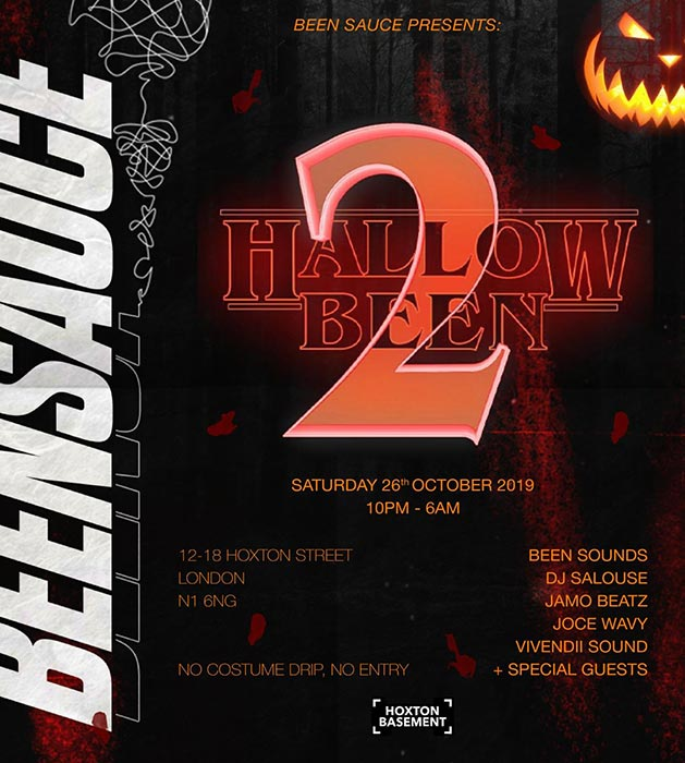 #Hallowbeen II at Hoxton Basement on Saturday 26th October 2019 Flyer