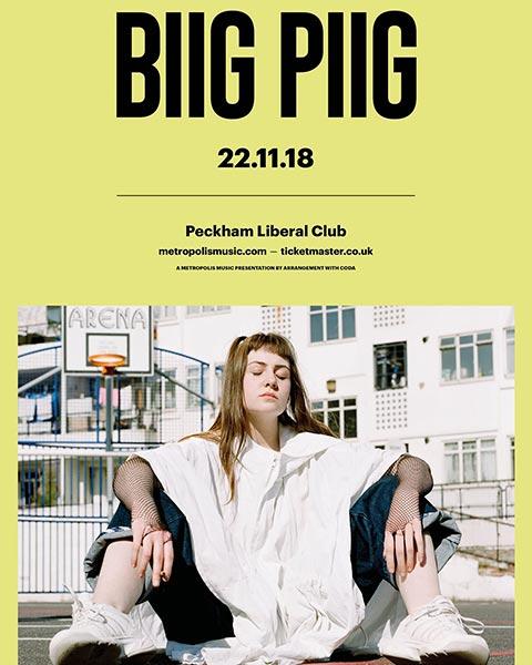 Biig Piig  at Peckham Liberal Club on Thu 22nd November 2018 Flyer