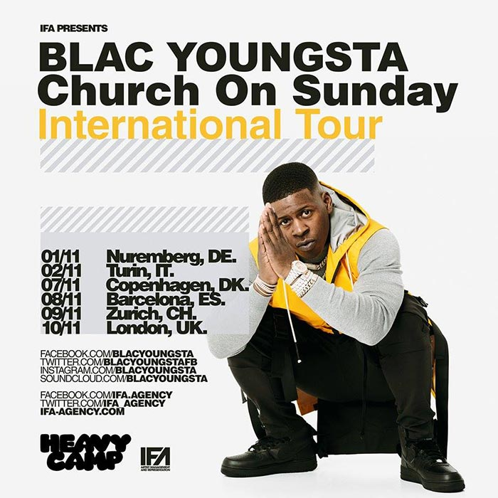 Blac Youngsta at The Forum on Sunday 10th November 2019 Flyer
