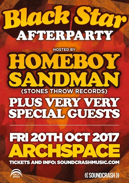 Black Star Afterparty at Archspace on Fri 20th October 2017 Flyer