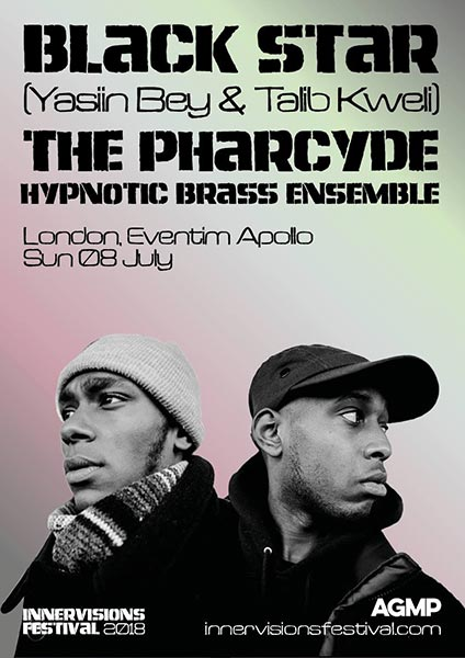 Black Star + The Pharcyde at Hammersmith Apollo on Sunday 8th July 2018 Flyer