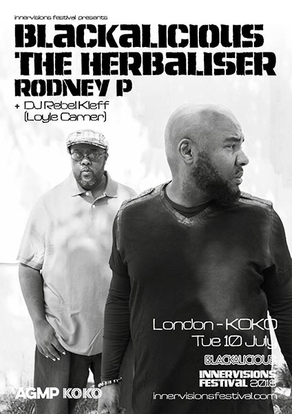 Blackalicious at KOKO on Tuesday 10th July 2018 Flyer