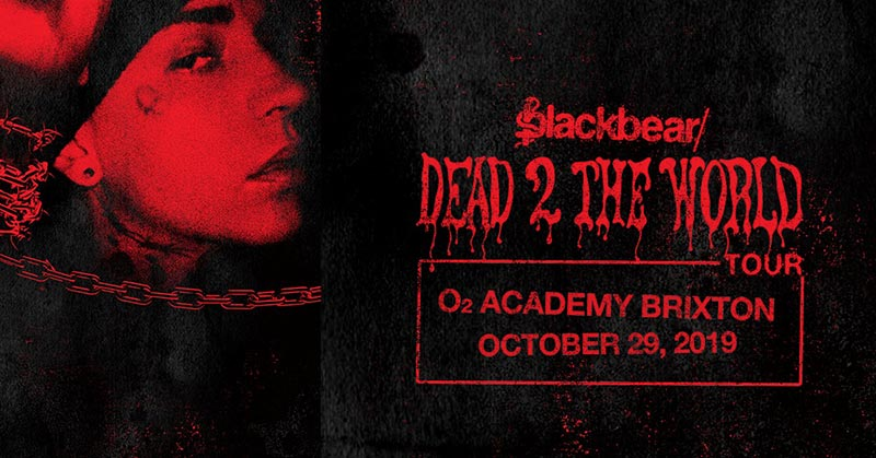 Blackbear at Brixton Academy on Tue 29th October 2019 Flyer