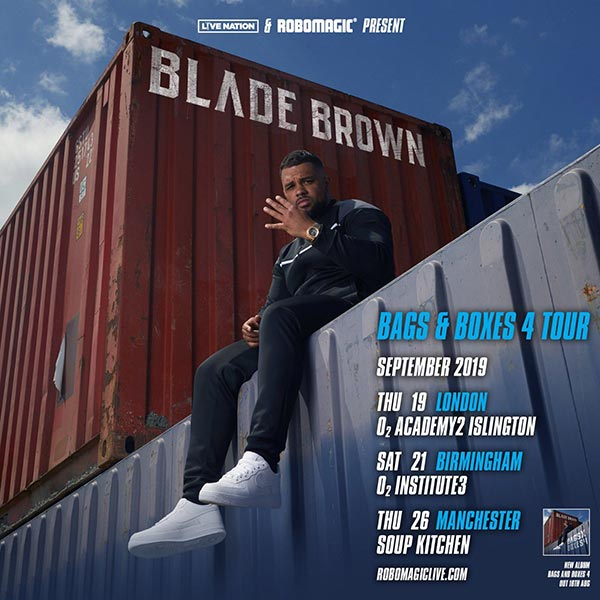 Blade Brown at Islington Academy on Thu 19th September 2019 Flyer