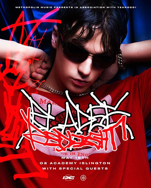 Bladee at Islington Academy on Wed 16th May 2018 Flyer