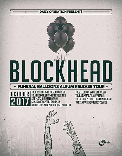 Blockhead at Archspace on Sun 15th October 2017 Flyer