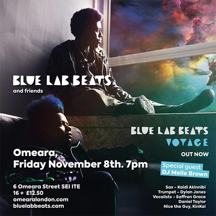 Blue Lab Beats at Omeara on Fri 8th November 2019 Flyer