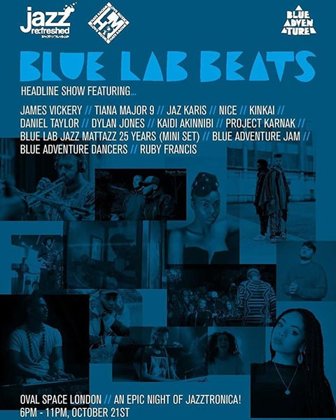 Blue Lab Beats  at Oval Space on Sunday 21st October 2018 Flyer