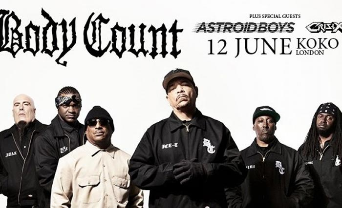 Body Count at KOKO on Tue 12th June 2018 Flyer