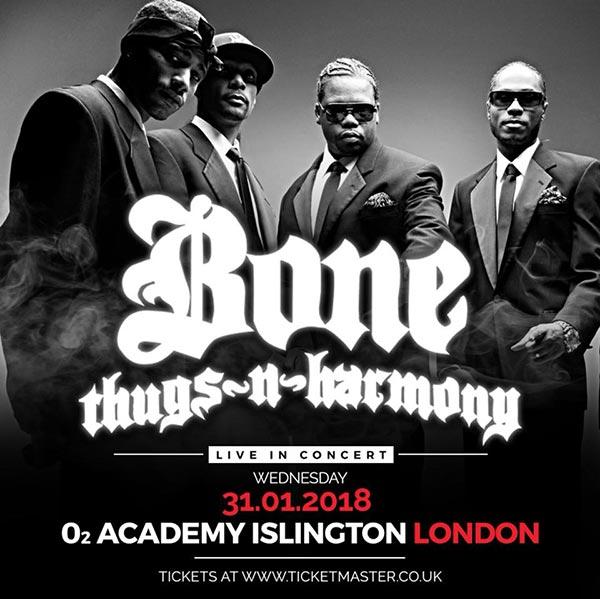 Bone Thugs-N-Harmony at Islington Academy on Wed 31st January 2018 Flyer