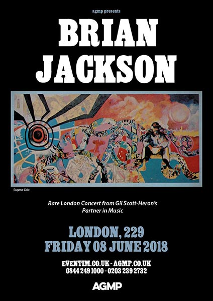 Brian Jackson at 229 The Venue on Friday 8th June 2018 Flyer