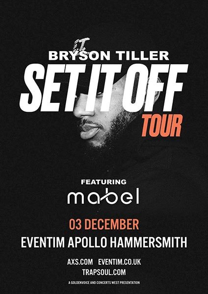 Bryson Tiller at Finsbury Park on Sunday 3rd December 2017 Flyer