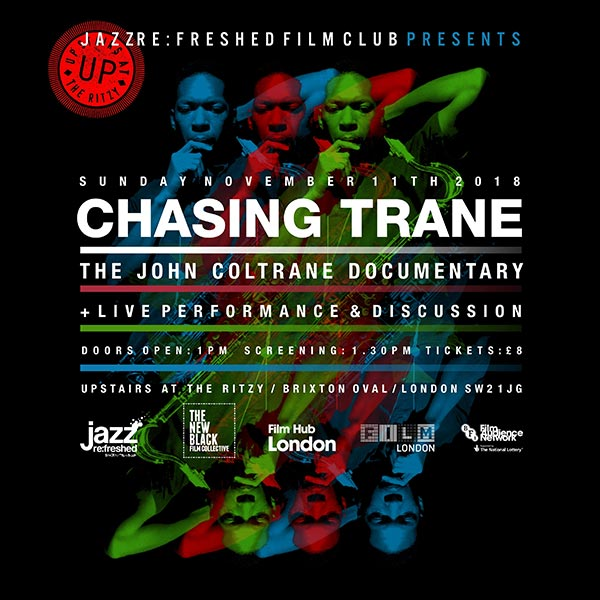 Jazz re:freshed Film Club at The Ritzy on Sun 11th November 2018 Flyer