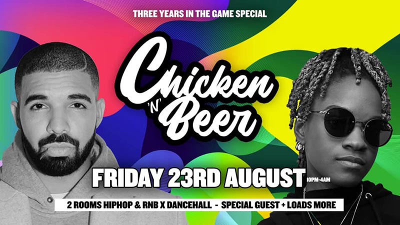 Chicken 'N' Beer at Omeara on Fri 23rd August 2019 Flyer