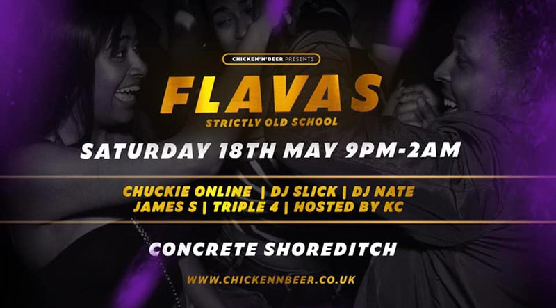 Flavas at Concrete on Sat 18th May 2019 Flyer