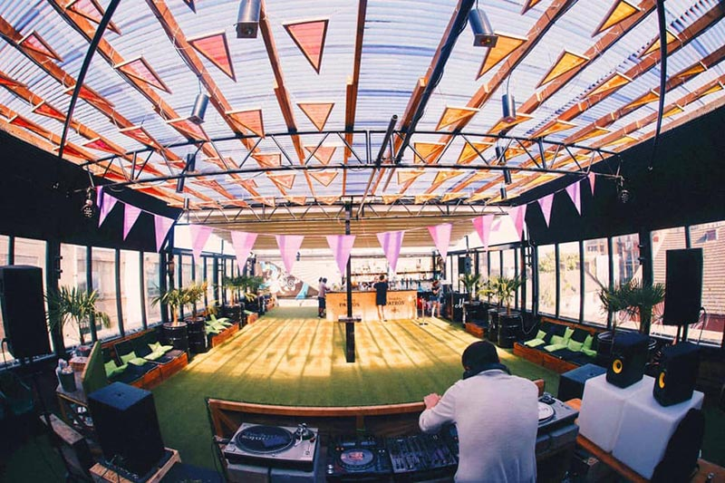 Chicken n Beer x Rooftop Party at Dalston Roof Park on Fri 7th June 2019 Flyer