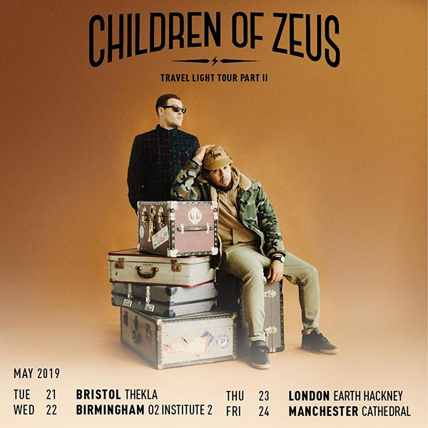 Children of Zeus at EartH on Thu 23rd May 2019 Flyer