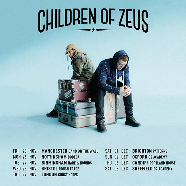Children of Zeus at Ghost Notes on Thu 29th November 2018 Flyer