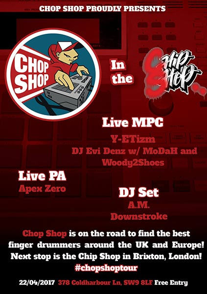 Chop Shop in the Chip Shop at Chip Shop BXTN on Sat 22nd April 2017 Flyer