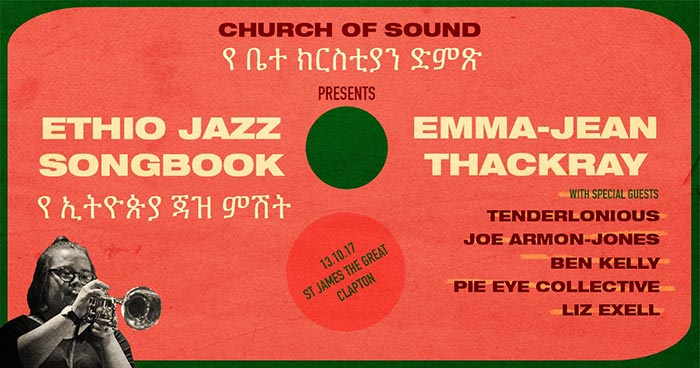 Ethio Jazz Songbook at Church of Sound on Fri 13th October 2017 Flyer
