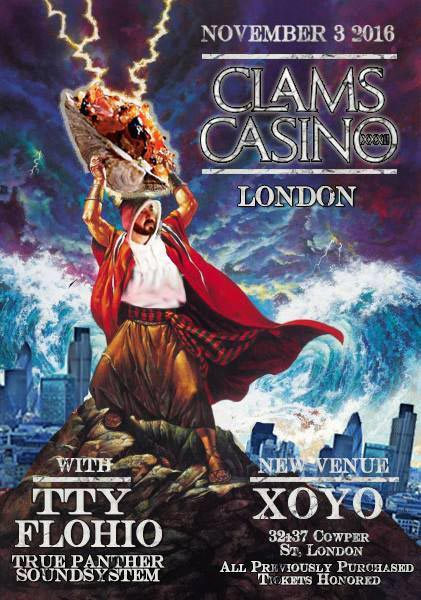 clams casino london