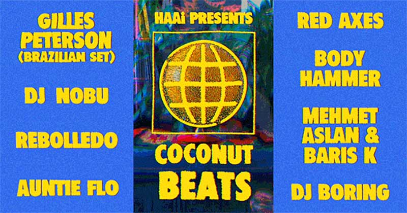 Coconut Beats of Brazil at Phonox on Sat 25th August 2018 Flyer