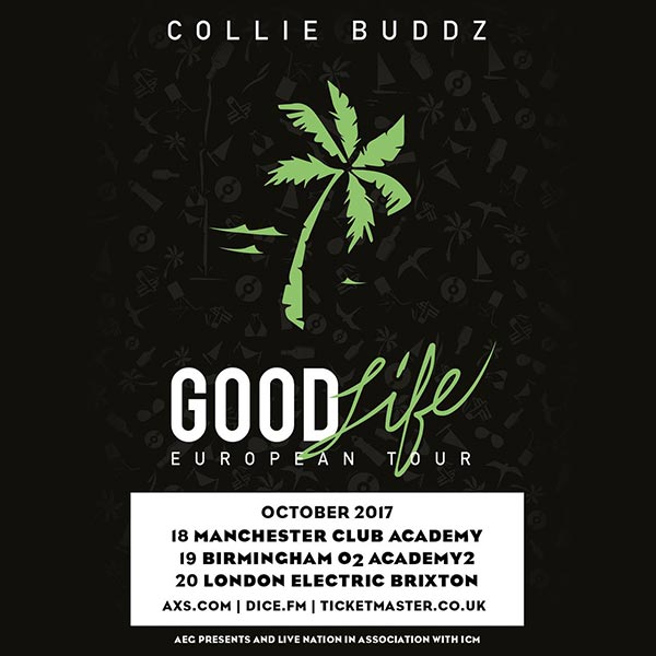 Collie Buddz at Electric Brixton on Fri 20th October 2017 Flyer