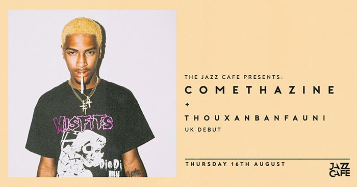 Comethazine at Jazz Cafe on Thu 16th August 2018 Flyer