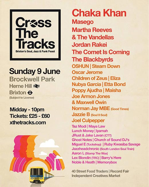 Cross The Tracks at Brockwell Park on Sunday 9th June 2019 Flyer