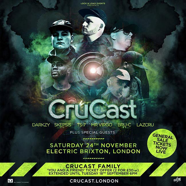Crucast London at Electric Brixton on Sat 24th November 2018 Flyer