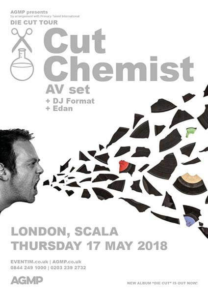 Cut Chemist at Scala on Thu 17th May 2018 Flyer