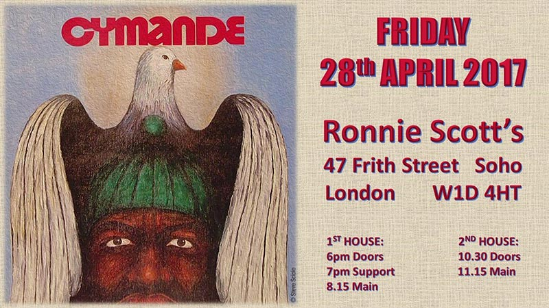 Cymande at Ronnie Scotts on Sat 29th April 2017 Flyer